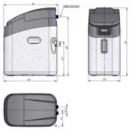 Monarch MIDI HE Metered Water Softener - 22mm Kit